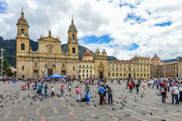 La piazza di Bolívar a Bogotà