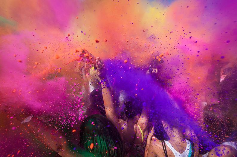 Festeggiamenti all'Holi Festival in India