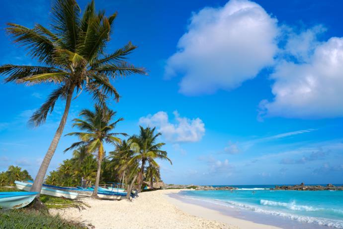 Spiaggia sull'isola di Cozumel, Messico