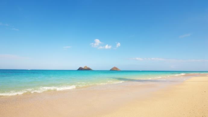 Spiaggia, mare e le Na Mokulua di Lanikai Beach