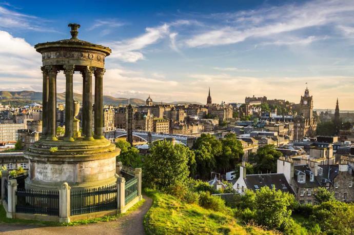 Vista da Calton Hill, Edimburgo, Scozia