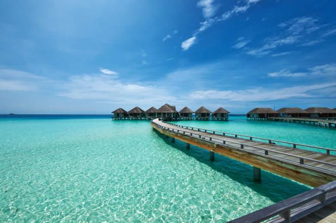 Resort di lusso alle Maldive