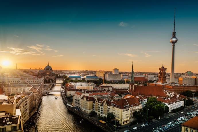 Suggestivo panorama di Berlino, Germania