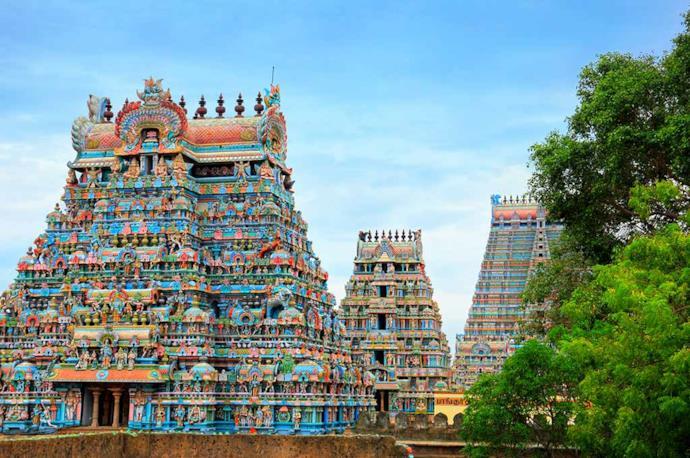 Tempio di Jambukeswarar a Chennai, India