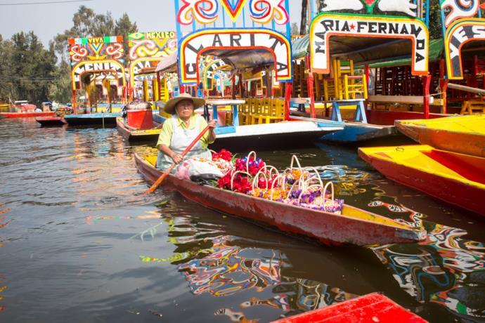 Barche tradizionali a Ciudad de Mexico