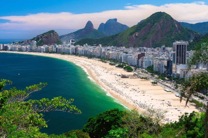 Spiaggia di Copacabana a Rio de Janeiro in Brasile
