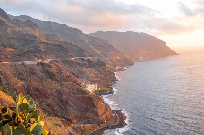 Suggestivo scorcio della costa di Tenerife, isole Canarie, Spagna