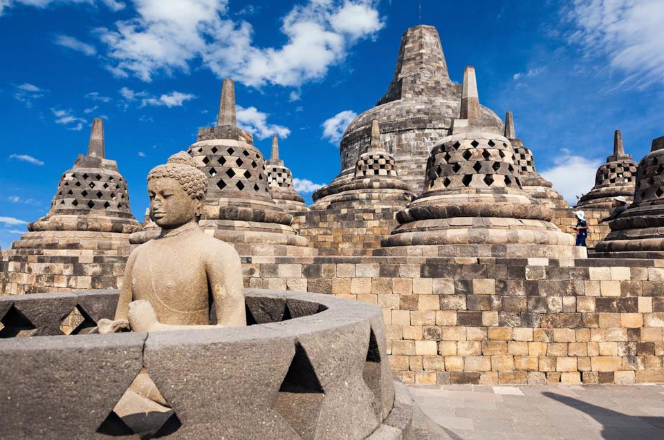 Borobudur a Giava in Indonesia
