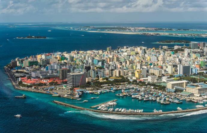 Panorama di Malé, capitale delle Maldive
