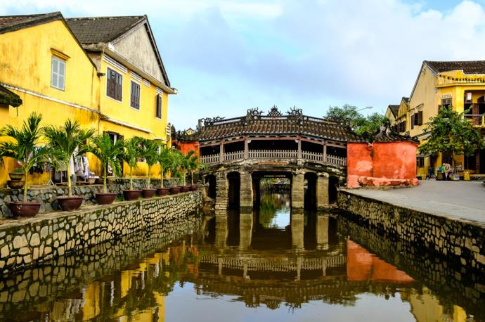 Ponte giapponese ad Hoi An, Vietnam