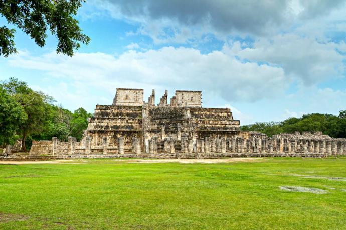 Tempio dei Guerrieri a Chichen Itza, Messico
