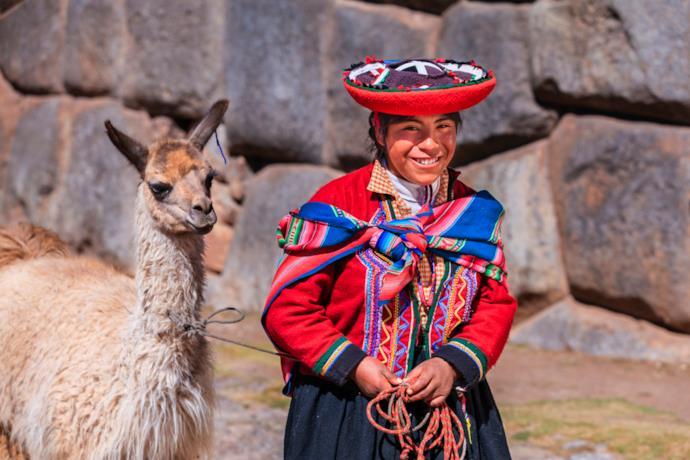 Una ragazza peruviana