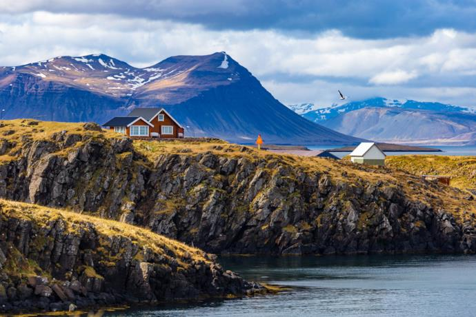 Tipico villaggio dell'Islanda