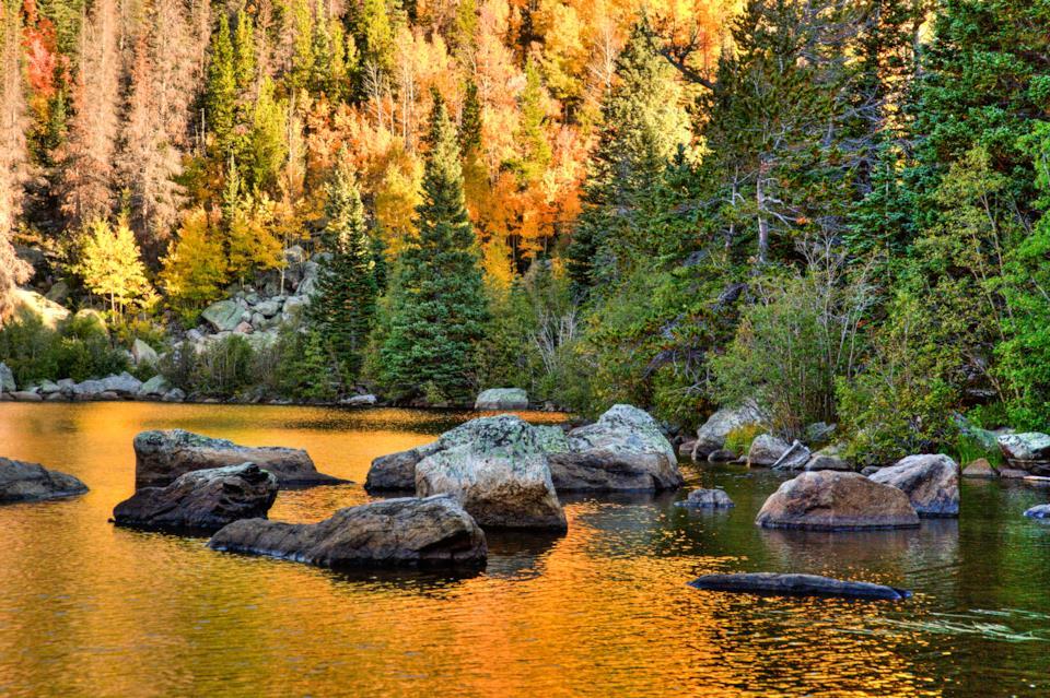 Bear Lake al Rocky Mountain National Park, Usa