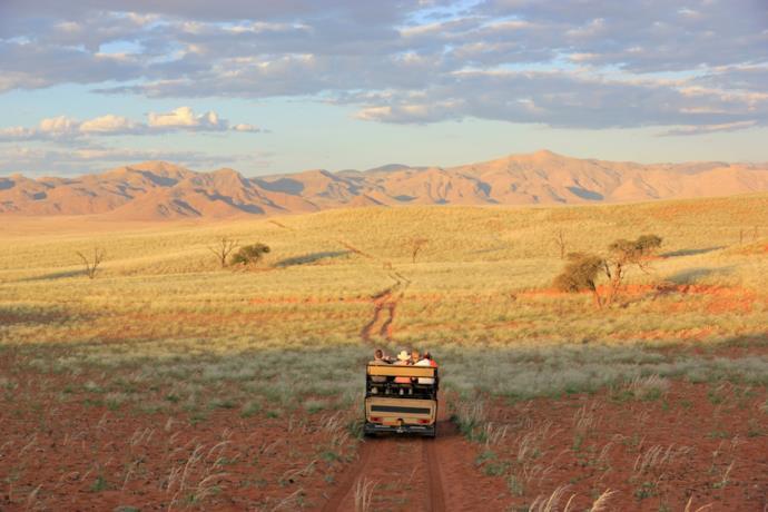 Safari in jeep in Namibia.