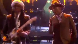 Pharrell & Nile Rodgers - Get Lucky Good Times Happy (BRIT Awards 2014)