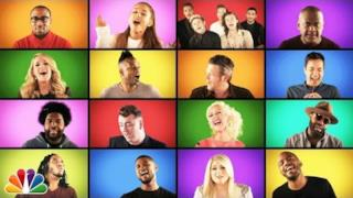 Jimmy Fallon, One Direction, Ariana Grande e altre star in We Are The Champions dei Queen