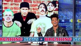 Bruno Mars annuncia i Red Hot Chili Peppers al Super Bowl 2014