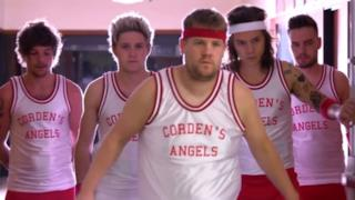 Gli One Direction giocano a dodgeball con James Corden (video)