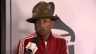 Pharrell intervistato ai 56esimi Grammy Awards 2014