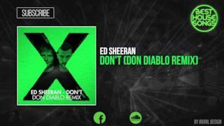 Ed Sheeran - Don't (Don Diablo remix) (audio ufficiale e testo)