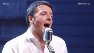 Matteo Renzi canta Tranne te (Rap Futuristico)