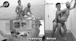 A Le Iene Lello bacia in bocca Fedez, Moreno e Clementino (video)
