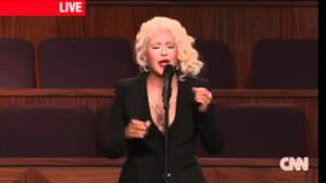 Christina Aguilera sings At Last at Etta James Funeral
