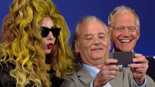 Lady Gaga: selfie con David Letterman e Bill Murray prima di suonare al Roseland Ballroom
