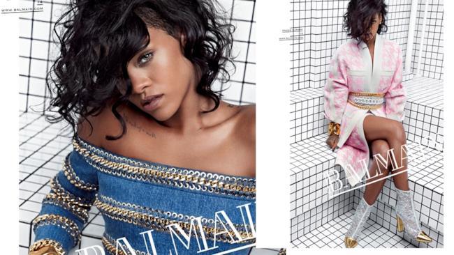 Rihanna per Balmain collezione primavera/estate 2014