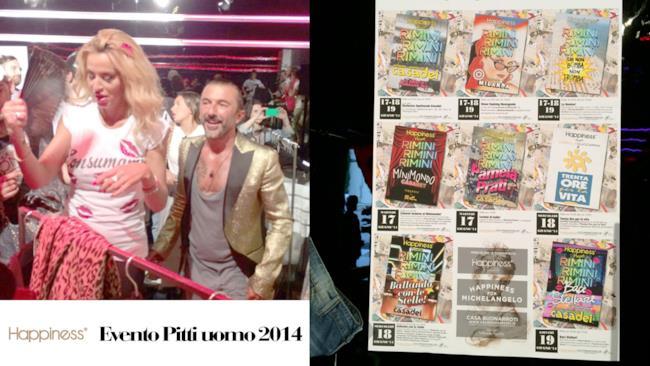 Happiness collezione Baci Stellari con Valeria Marini, Pitti uomo 2014
