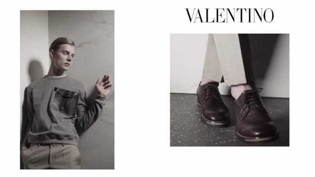 La pubblicità della collezione di Valentino per la primavera estate 2014