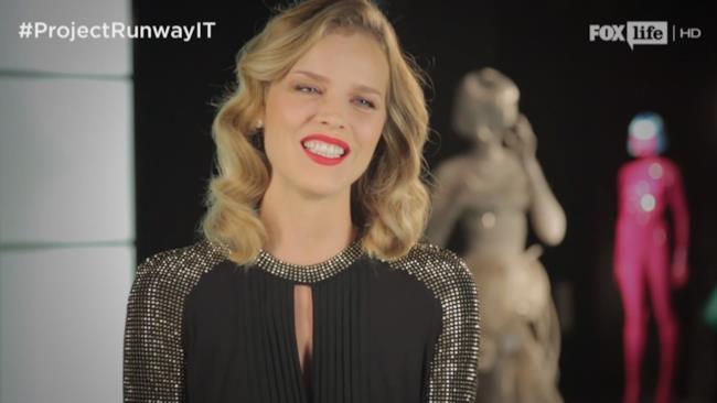 Eva Herzigova si presenta a Project Runway Italia