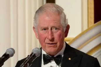 Un'immagine del Principe Carlo nel documentario BBC