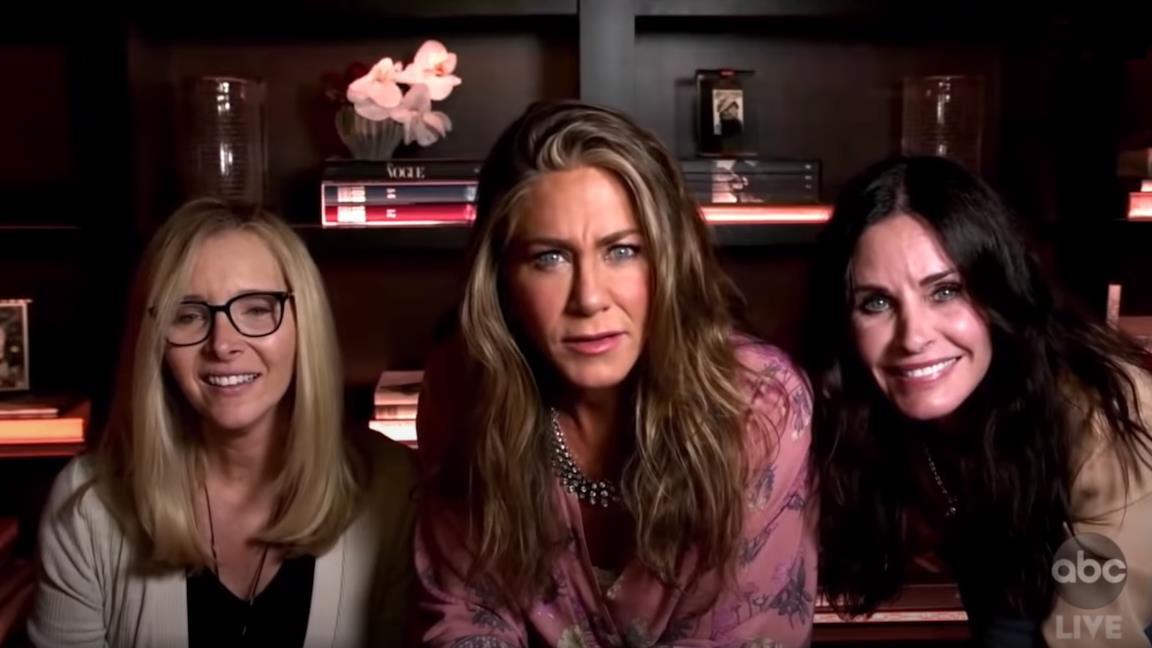La reunion di Friends agli Emmy 2020: Jeniffer Aniston, Courteney Cox e Lisa Kudrow di nuovo insieme