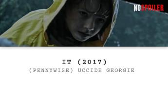 Pennywise uccide Georgie nel film IT del 2017