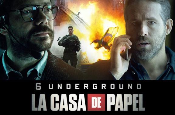 6 Underground, il promo con Ryan Reynolds e il Professore de La casa di carta