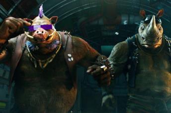 Il nuovo trailer di Tartarughe Ninja 2 trasforma Bebop e Rocksteady!