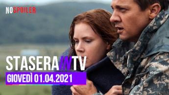 Film e programmi in onda oggi in TV - giovedì 01 aprile 2021