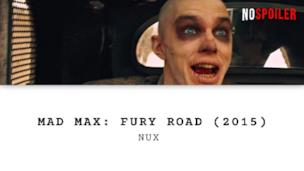 Mad Max: Fury Road - Nux incontra lo sguardo di Immortan Joe