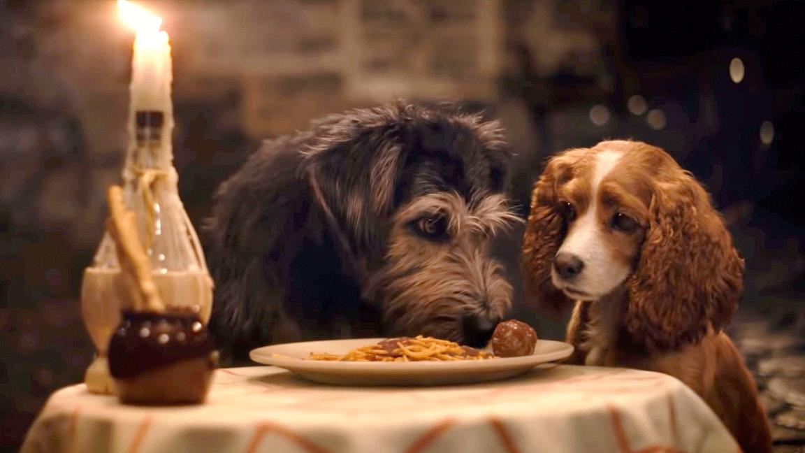 Lilli e il Vagabondo, nuove clip con la famosa scena del ristorante